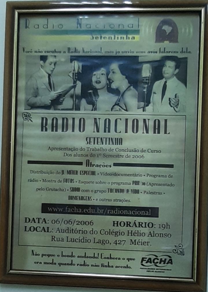 Apresentação de TCC no formato da Rádio Nacional de 1940